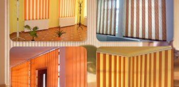 Jaluzele verticale îmbunătățesc aspectul interioarelor menţinând căldura la exterior